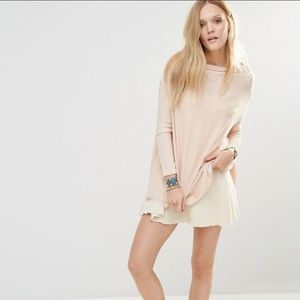 Free People Lover rib thermal split-back top